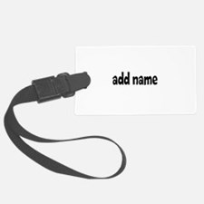 Add Text Font Funky Luggage Tag