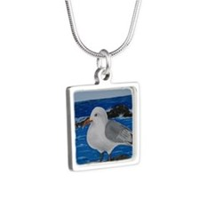 Seagull Silver Square Necklace