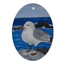 Seagull Oval Ornament