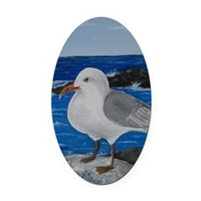 Seagull Oval Car Magnet