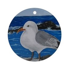 Seagull Round Ornament