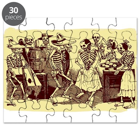 Antique Jose Posada Dance Of The Skeletons Print P