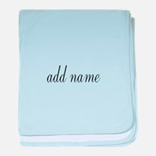 Add Text Font Script baby blanket