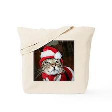 Santas Helper Cat Tote Bag