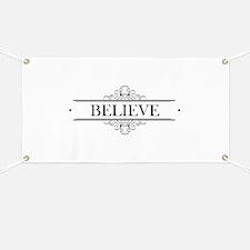 Believe Calligraphy Banner