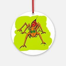 Pumpkin Grasshopper Ornament (Round)