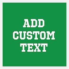 Custom Sports Text Green White Invitations