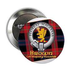 """Brown Clan 2.25"""" Button"""