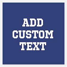 Custom Sports Text Blue White Invitations