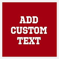 Custom Sports Text Red White Invitations