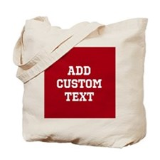 Custom Sports Text Red White Tote Bag
