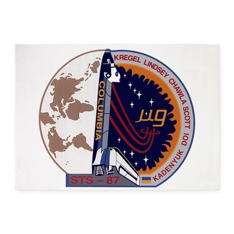 STS-87 Atlantis 5'x7'Area Rug