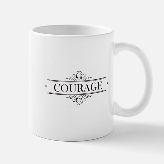 Courage Calligraphy Mug