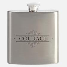 Courage Calligraphy Flask