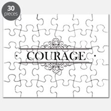 Courage Calligraphy Puzzle