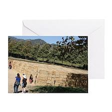 Hay Maze at Avila Farm Greeting Card