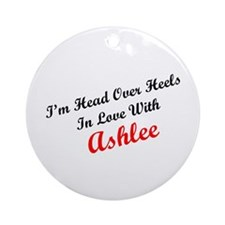 In Love with Ashlee Ornament (Round)