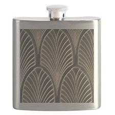 Art Deco Fan Geometric Flask