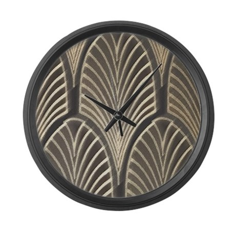 Art Deco Fan Geometric Large Wall Clock