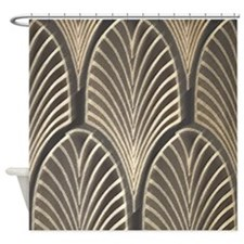 Art Deco Fan Geometric Shower Curtain