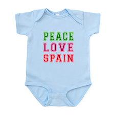 Peace Love Spain Infant Bodysuit