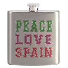 Peace Love Spain Flask