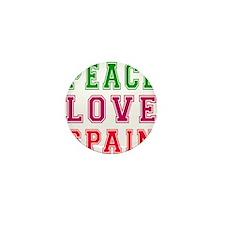 Peace Love Spain Mini Button
