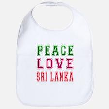 Peace Love Sri Lanka Bib