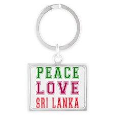 Peace Love Sri Lanka Landscape Keychain