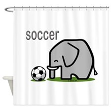 Soccer Elephant Shower Curtain