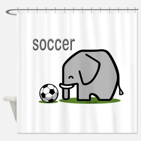 Soccer Elephant Shower Curtain