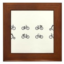 Bicycles Framed Tile