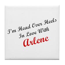 In Love with Arlene Tile Coaster