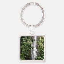 Hana Waterfall Square Keychain