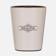 Imagine In Calligraphy Shot Glass