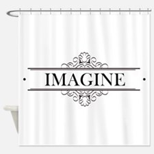 Imagine In Calligraphy Shower Curtain