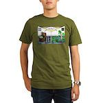 Spider Fathers Day Organic Men's T-Shirt (dark)