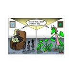 Spider Fathers Day 35x21 Wall Decal