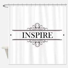 Inspire In Calligraphy Shower Curtain