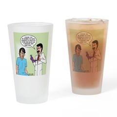 Dr. Banner Prostate Exam Drinking Glass