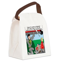 9-11 Super Heros Canvas Lunch Bag