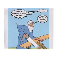 Noah Talks to God Throw Blanket