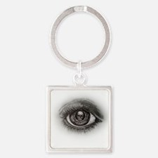 Eye-D Square Keychain