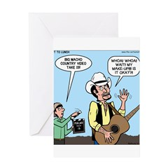 Macho Country Singer Greeting Card