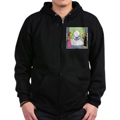 Toilet Bowl Punch Bowl Zip Hoodie