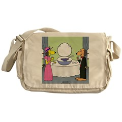 Toilet Bowl Punch Bowl Messenger Bag