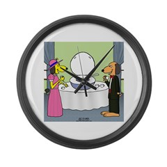 Toilet Bowl Punch Bowl Large Wall Clock