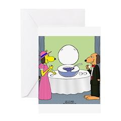 Toilet Bowl Punch Bowl Greeting Card