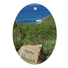 Honoloa Bay Oval Ornament