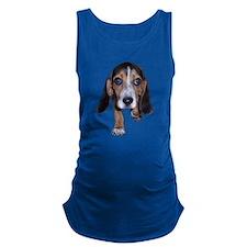 Beagle Puppy Walking Maternity Tank Top